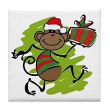 Santa Monkey Tile Coaster