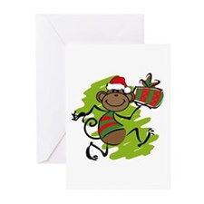 Santa Monkey Greeting Cards (Pk of 10)
