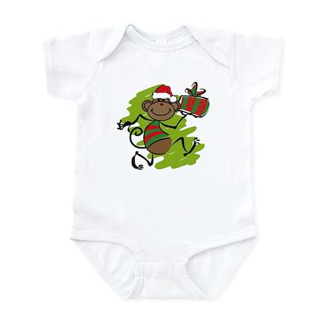 Santa Monkey Infant Bodysuit