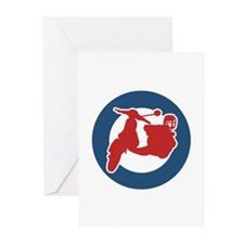 Brit Scooter Greeting Cards (Pk of 10)