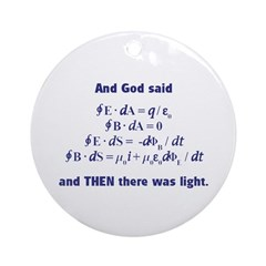 And God Said Ornament (Round)