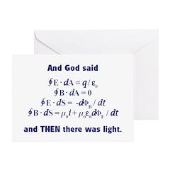And God Said Greeting Card