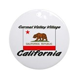 Carmel Valley Village California Ornament (Round)