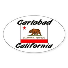 Carlsbad California Oval Decal