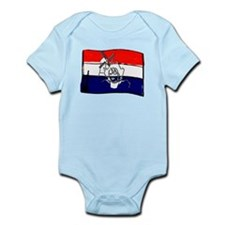 Dutch flag with sketch Infant Bodysuit