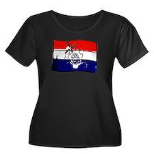 Dutch flag with sketch T