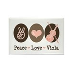 Peace Love Viola Rectangle Magnet (100 pack)