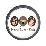 Peace Love Viola Wall Clock