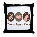 Peace Love Viola Throw Pillow