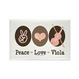 Peace Love Viola Rectangle Magnet