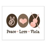 Peace Love Viola Small Poster