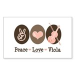 Peace Love Viola Rectangle Sticker