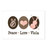 Peace Love Viola Postcards (Package of 8)
