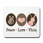 Peace Love Viola Mousepad