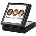 Peace Love Viola Keepsake Box