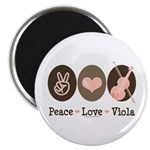 Peace Love Viola Magnet