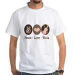 Peace Love Viola White T-Shirt