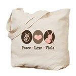 Peace Love Viola Tote Bag