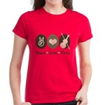 Peace Love Viola Women's Dark T-Shirt