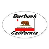 Burbank California Oval Decal