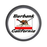 Burbank California Wall Clock