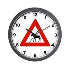 Donkey Crossing, Netherlands Antilles Wall Clock