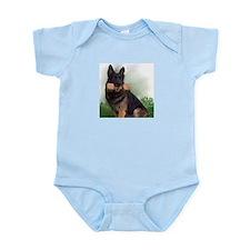 German Shepherd Mic Infant Bodysuit
