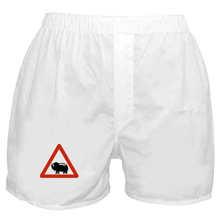 Caution Musk Oxen, Greenland Boxer Shorts