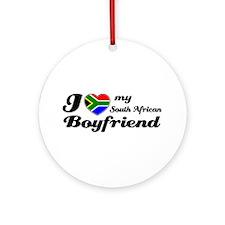 I love South African Boyfriend Ornament (Round)