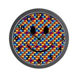 Autism Smiley Wall Clock