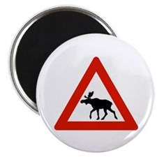 "Caution Elks, Norway 2.25"" Magnet (10 pack)"