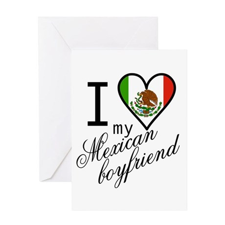 I Love Heart my Mexican Boyfr Greeting Card