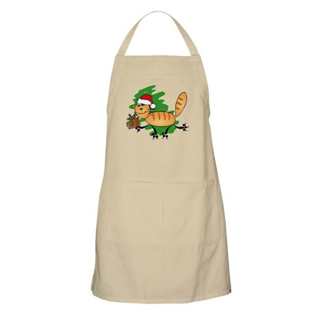 Santa Kitty BBQ Apron