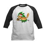 Santa Kitty Kids Baseball Jersey