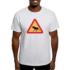 Caution Elks, Sweden T-Shirt
