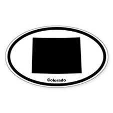 Colorado State Outline Oval Decal