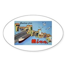 Two Harbors Minnesota Greetings Oval Decal