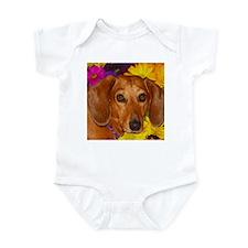 Doxie Flower Infant Bodysuit