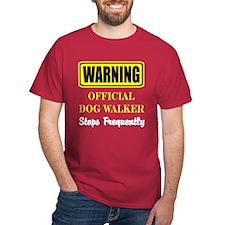 Official Dog Walker Cardinal T-Shirt