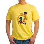 Jimmy & Sody, standing; Yellow T-Shirt