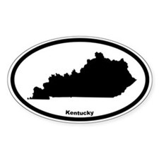 Kentucky State Outline Oval Decal