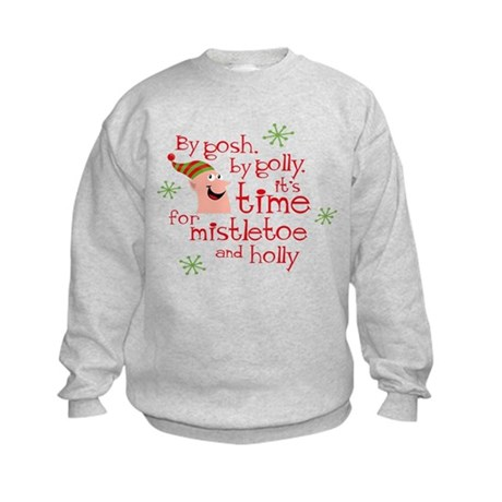 Holly Elf Kids Sweatshirt