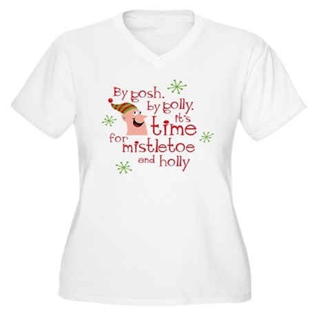 Holly Elf Women's Plus Size V-Neck T-Shirt