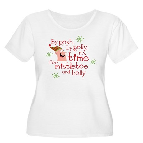 Holly Elf Women's Plus Size Scoop Neck T-Shirt