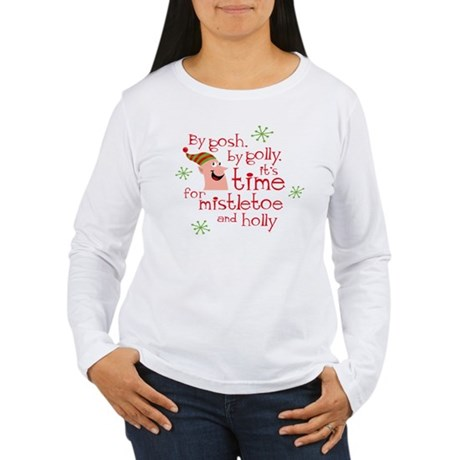 Holly Elf Women's Long Sleeve T-Shirt