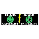 BAD CAPITALIST/GOOD CAPITALIST - Bumper Car Sticker
