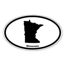 Minnesota State Outline Oval Decal
