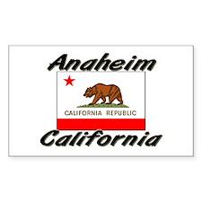 Anaheim California Rectangle Decal