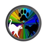 RAINBOW PAW CATS Wall Clock
