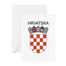 Croatia Arms with Name Greeting Cards (Pk of 20)